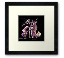 My Little Pony - MLP - FNAF - Princess Cadence Animatronic - It's Me Framed Print