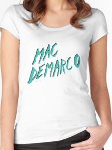 Mac Demarco White Women's Fitted Scoop T-Shirt