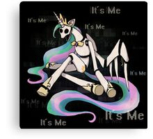 My Little Pony - MLP - FNAF - Celestia Animatronic Canvas Print