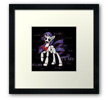 My Little Pony - MLP - FNAF - Rarity Animatronic Framed Print