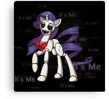 My Little Pony - MLP - FNAF - Rarity Animatronic Canvas Print