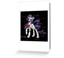 My Little Pony - MLP - FNAF - Rarity Animatronic Greeting Card