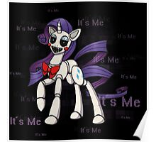 My Little Pony - MLP - FNAF - Rarity Animatronic Poster