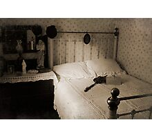 Bed Old Fashioned Photographic Print