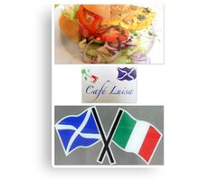Cafe Luisa Metal Print