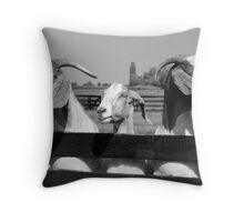 Three billy goats gruff Throw Pillow