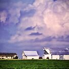 """Old Barn, Storm Clouds & Quilt Square"" by Melinda Stewart Page"