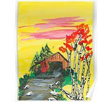 barnyard in fall Poster