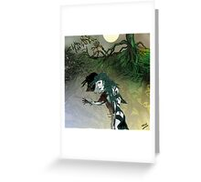 Green Earth Maiden Greeting Card