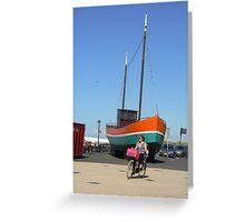 standing boat 2. Greeting Card