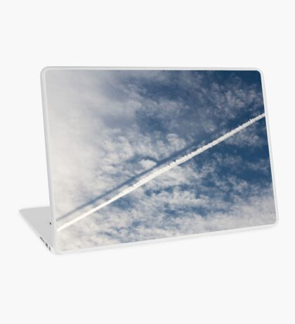 wake of the plane in the clouds Laptop Skin