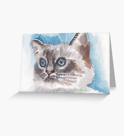 Brilliant blue eyes  Greeting Card