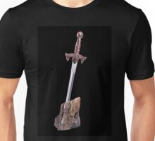 sword in the stone symbol of King Arthur  Unisex T-Shirt