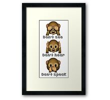 Whatsapp emoticons Framed Print