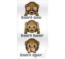 Whatsapp emoticons Poster