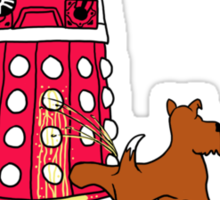 DALEK RELIEF Sticker