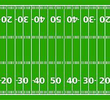 American Football Field Sticker by ukedward