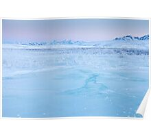 Ice, Frost and Mountains Poster
