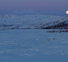 Moonrise in the Alaska Range by Tim Grams