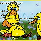 Greeting Card: Happy Birthday Ducks (german) by Katharina Vasicek