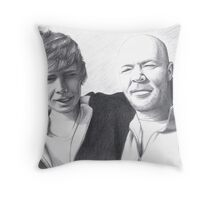 Father and Son - commission Throw Pillow
