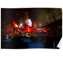 Haunted Bus Ride By Jonathan Green Poster