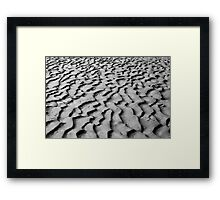 Paterns in the sand  Framed Print