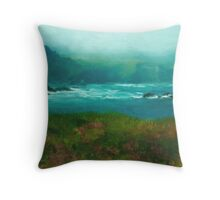 Mendocino Fog Throw Pillow