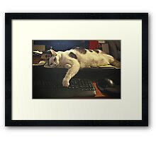 Too Tired to Finish the Email Framed Print