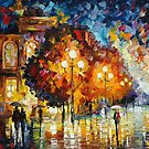 NIGHT WONDERING - original oil painting on canvas by Leonid Afremov by Leonid  Afremov