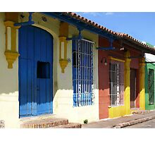 Colonial houses in Camaguey, Cuba Photographic Print