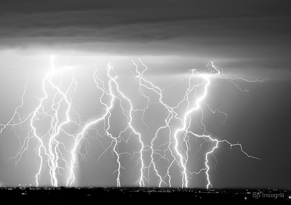 Eletric Skies in Black and White  by Bo Insogna