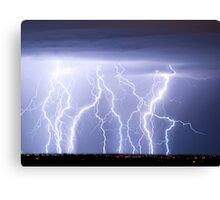 Crazy Lightning Skies Canvas Print