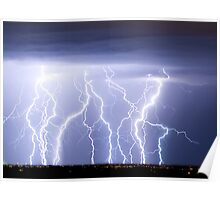 Crazy Lightning Skies Poster