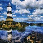 Penmon Lighthouse by Ian Mitchell
