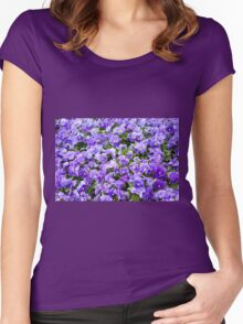 pansy flowers blooming  Women's Fitted Scoop T-Shirt
