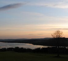 A panorama view of the River Foyle at sunset by Sarah Cowan