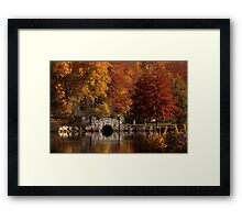 Twin Brooks in the Autumn Framed Print