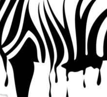 Zebra melting Sticker
