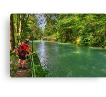 River Partnach, Garmisch, Germany Canvas Print