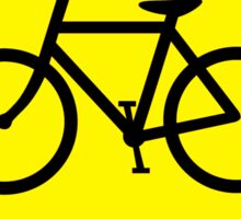 Bicycles Yellow Diamond Warning Road Sign Sticker Sticker