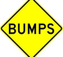 Bumps Yellow Diamond Warning Road Sign Sticker by ukedward