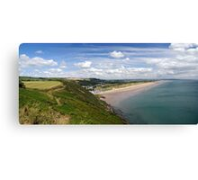 Pendine in South Wales. Canvas Print