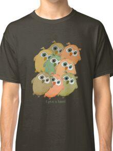 Cartoon watercolor owls. Classic T-Shirt