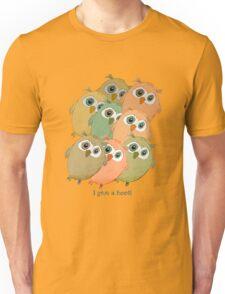 Cartoon watercolor owls. Unisex T-Shirt