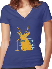 The Rare and Elusive Jokealope Women's Fitted V-Neck T-Shirt