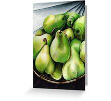 Juicy Pears Greeting Card