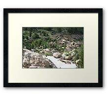 Down Comes The Water Framed Print