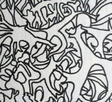 lichen study Sticker