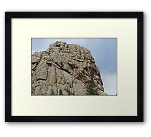 The Old Man In The Rock Framed Print